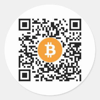 Pegatina del código de la cartera QR de Bitcoin