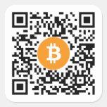 Pegatina del código de la cartera QR de Bitcoin (B