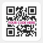 Pegatina del código de QR