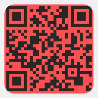 Pegatina del código del partidario QR de SOPA