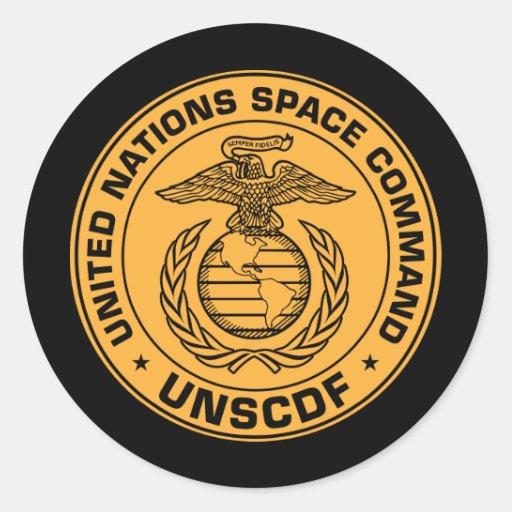 Pegatina del comando del espacio de Naciones Unida