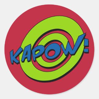 Pegatina del cómic de Kapow