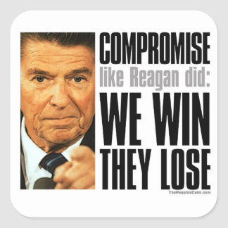 Pegatina del compromiso de Reagan