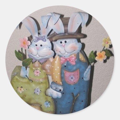Pegatina del conejito del conejo