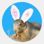 Pegatina del conejo de rabo blanco de Melvin
