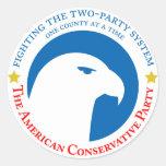 Pegatina del conservador de Amercian