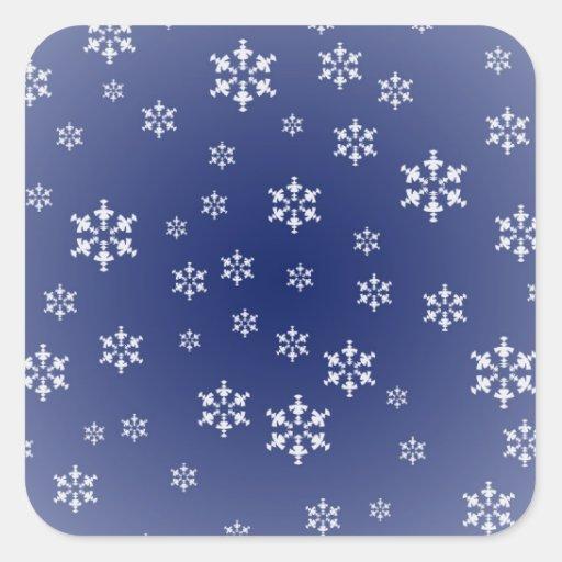 Pegatina del copo de nieve del invierno