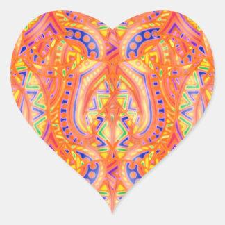 Pegatina del corazón de Bebopo