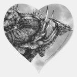Pegatina del corazón de Dragongiant