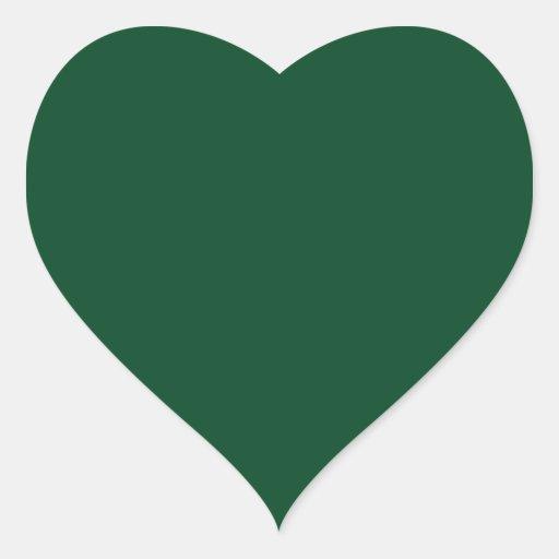Pegatina del corazón de Forest Green