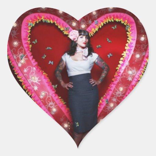 Pegatina del corazón de Hannah