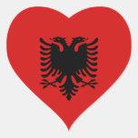 Pegatina del corazón de la bandera de Albania