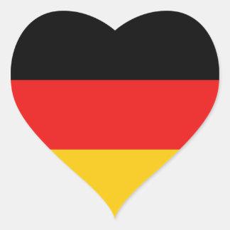 Pegatina del corazón de la bandera de Alemania