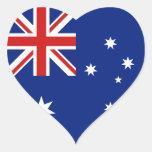Pegatina del corazón de la bandera de Australia