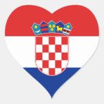 Pegatina del corazón de la bandera de Croacia