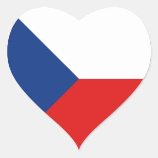 Pegatina del corazón de la bandera de Czechia