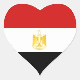 Pegatina del corazón de la bandera de Egipto