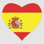 Pegatina del corazón de la bandera de España
