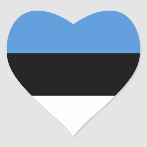 Pegatina del corazón de la bandera de Estonia