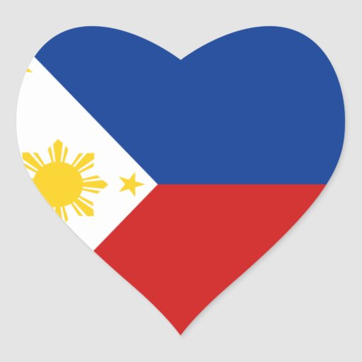 Pegatina del corazón de la bandera de Filipinas