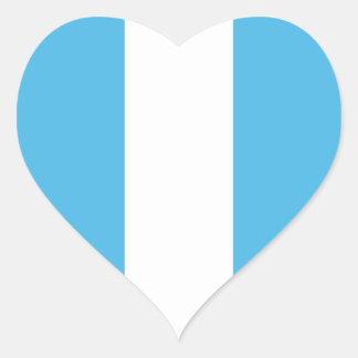Pegatina del corazón de la bandera de Guatemala