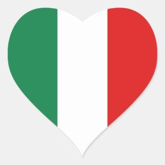 Pegatina del corazón de la bandera de Italia
