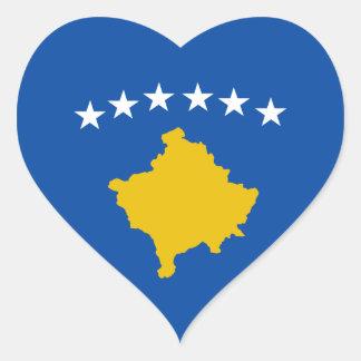 Pegatina del corazón de la bandera de Kosovo