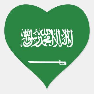 Pegatina del corazón de la bandera de la Arabia