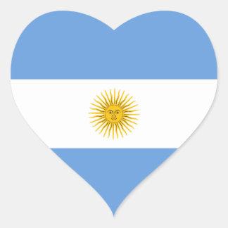 Pegatina del corazón de la bandera de la Argentina