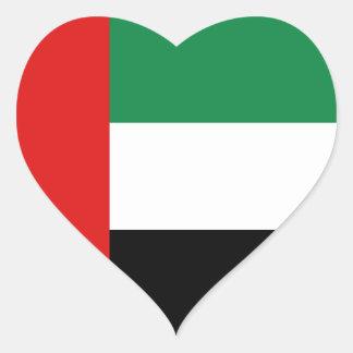Pegatina del corazón de la bandera de los UAE