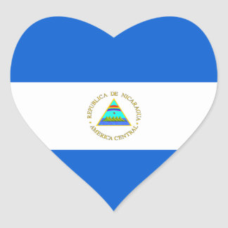 Pegatina del corazón de la bandera de Nicaragua