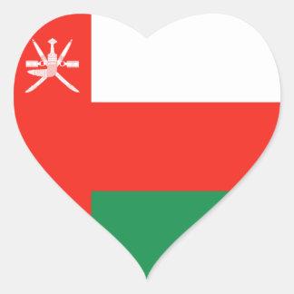 Pegatina del corazón de la bandera de Omán