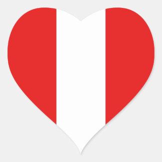 Pegatina del corazón de la bandera de Perú