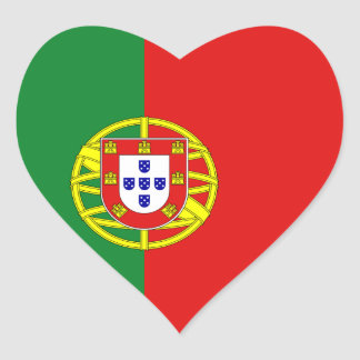 Pegatina del corazón de la bandera de Portugal
