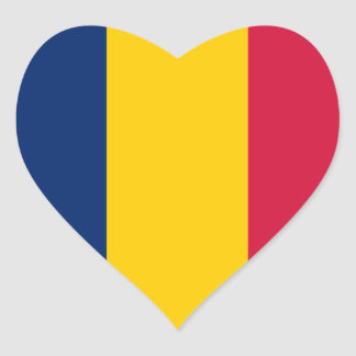 Pegatina del corazón de la bandera de República eo