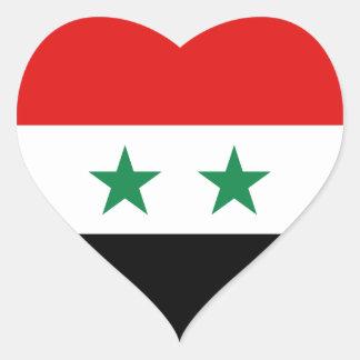 Pegatina del corazón de la bandera de Siria