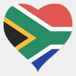 Pegatina del corazón de la bandera de Suráfrica