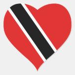 Pegatina del corazón de la bandera de Trinidad and