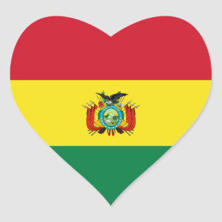 Pegatina del corazón de la bandera del estado de