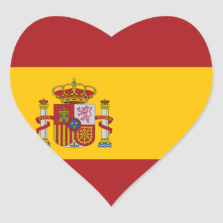 Pegatina del corazón de la bandera nacional de Esp
