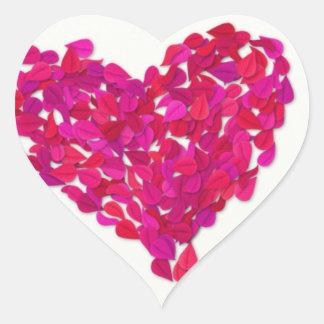 Pegatina del corazón de la hoja