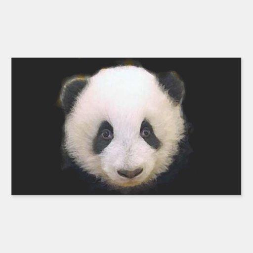 Pegatina del corazón de la panda del bebé