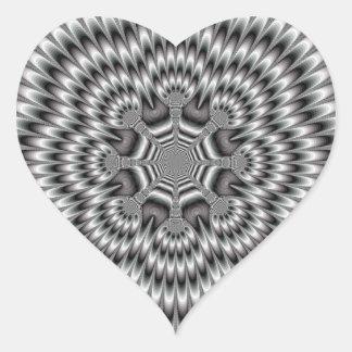 Pegatina del corazón de la rueda de la antorcha
