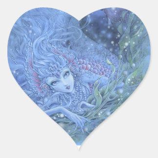 Pegatina del corazón de la sirena - La Mer