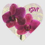 Pegatina del corazón de RSVP