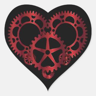 Pegatina del corazón de Steampunk