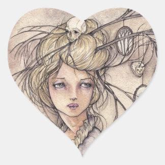 Pegatina del corazón de Vanitas