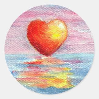 Pegatina del corazón del ajuste
