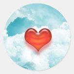 pegatina del corazón del amor