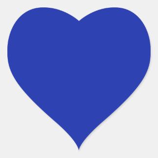 Pegatina del corazón del azul real